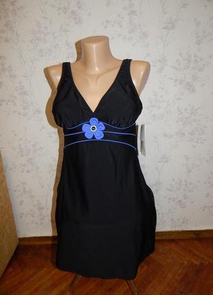 Silhouette купальник совместный цельный платьечком р12 новый