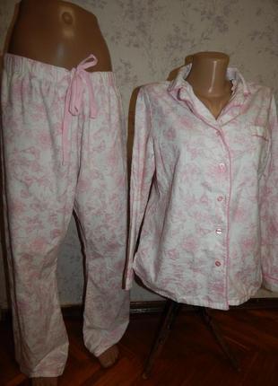 Love to lounge пижама байковая фланель рубашка со штанишками р...