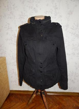 New look куртка джинсовая на змейке стильная модная р12
