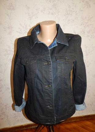 Mango куртка джинсовая стильная модная чёрная рм