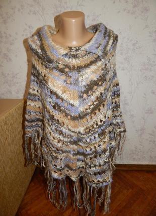 Marks&spencer пончо вязаное стильное модное