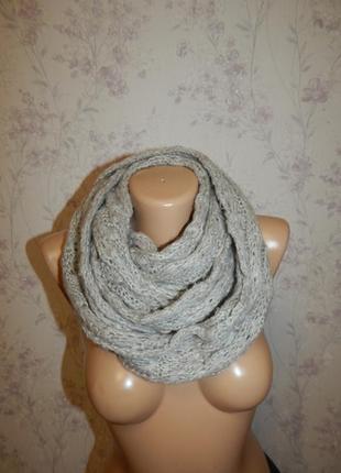New look базовый шарф, хомут, снуд женский. стильный, модный.