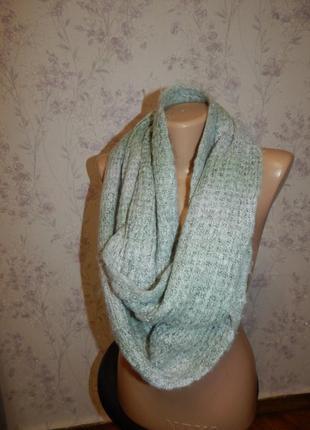 Нежный шарф, хомут, снуд женский. стильный, модный.