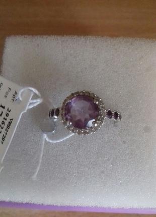 Кольцо серебро 925 пр аметист 17р