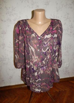 Marks&spencer блузка шифоновая полу-прозрачная стильная модная...
