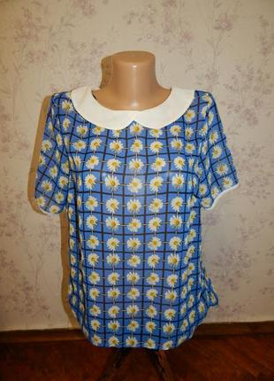 Atmosphere блузка шифоновая полу-прозрачная стильная модная р1...