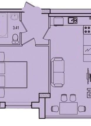 1 комнатная квартира в сданном доме на Марсельской