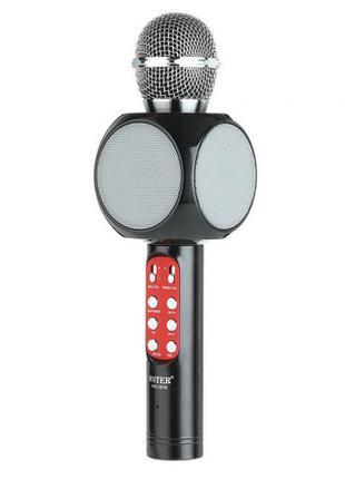 Беспроводной микрофон караоке bluetooth WSTER WS-1816. Цвет: черн