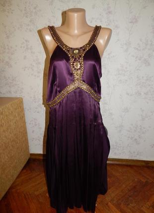 Marks&spencer платье шёлковое нарядное стильное модное р16