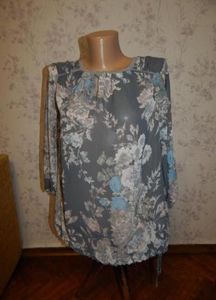 Next блузка шифоновая полу-прозрачная стильная модная р10