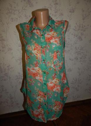 Glamorous блузка шифоновая полу-прозрачная невесомая стильная ...