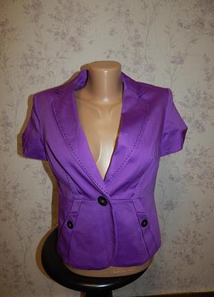 Marks&spencer пиджак жакет с короткими рукавами на подкладке с...