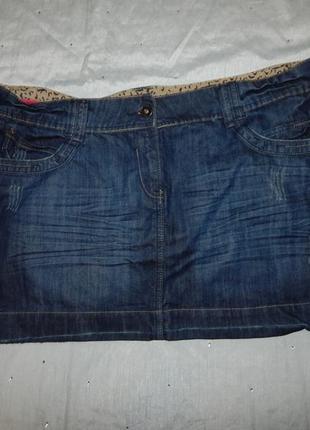 Inspire юбка джинсовая стильная модная р20 большой размер