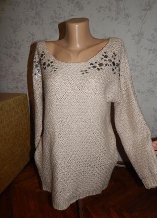 Amisu свитер стильный модный женский р м