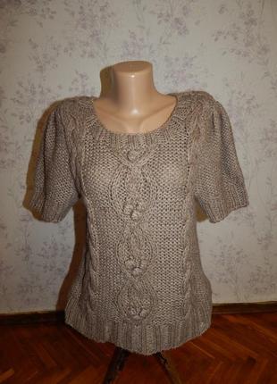 South свитер вязаный с коротким рукавом шикарный р 14