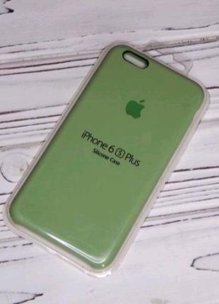 Чехол для iphone 6 Plus Green silicone case