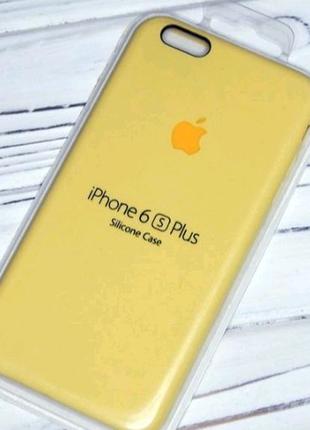 Чехол на iphone 6 plus yellow silicone case