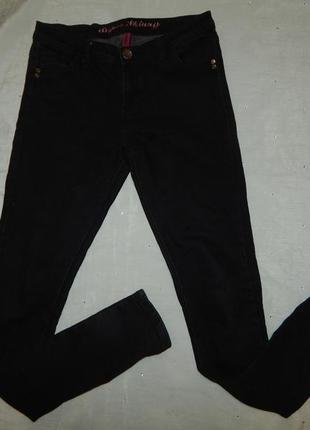Denim co super skinny джинсы черные стильные модные р12