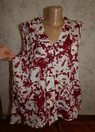 Peacocks блузка стильная модная р20 большой размер