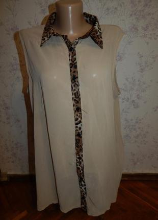 Select блузка стильная модная р18 большой размер