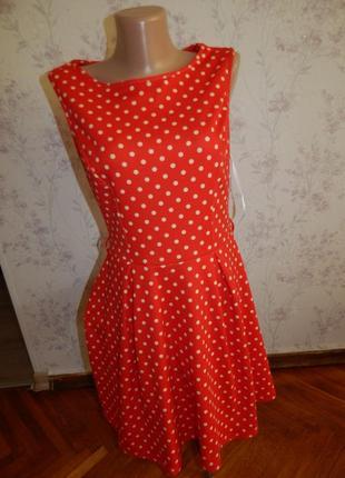 Atmosphere платье красное в горох стильное модное р12