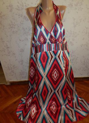 Monsoon платье шёлковое нарядное стильное модное р22 большой р...