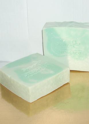 Мыло handmade с нуля мятное, никакой мыльной основы