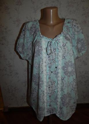 Блуза р.18  большой размер  marks &  spencer