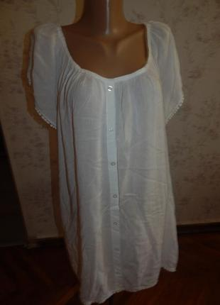 Блузка вискозная стильная модная р22 большой размер