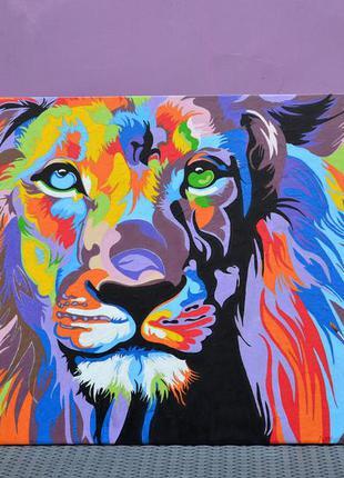Картина с изображением льва.