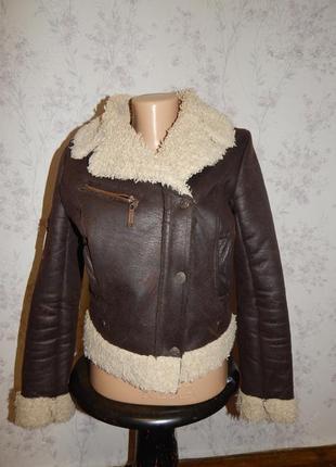 River island куртка косуха модная укороченная р8