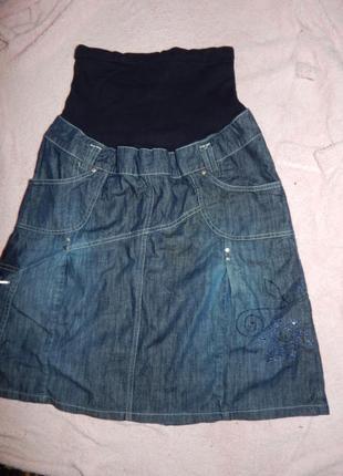 Юбка джинсовая для беременных р s