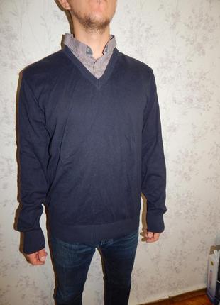Next свитер мужской с рубашкой-обманкой стильный модный рl идё...