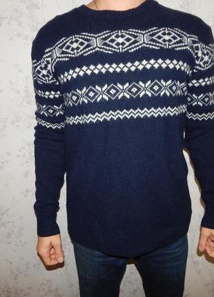 Woolovers свитер мужской шерстяной стильный модный рm