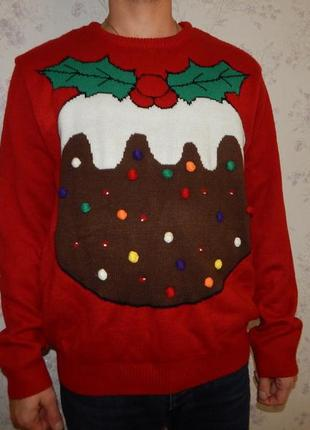 Cedar wood state свитер мужской новогодний с подсветкой рxl