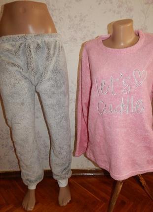 Love to lounge пижама плюшевая скомбинированная кофта р14 и шт...