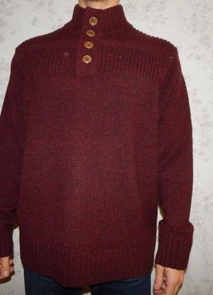 George свитер мужской с горлом тёплый стильный модный рxl