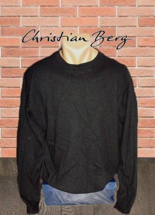 🌲🌲christian berg кашемир шерсть стильный теплый мужской свитер...