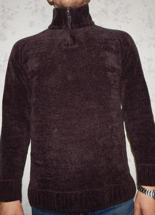 Tu свитер мужской велюровый под горло стильный модный рм