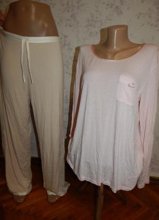 Marks&spencer пижама вискозная кофта со штанишками р14-16