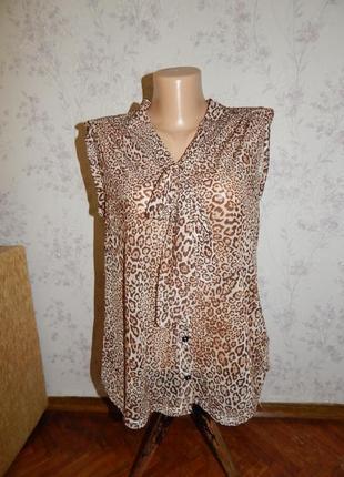 New look блузка полу-прозрачная стильная модная р 12