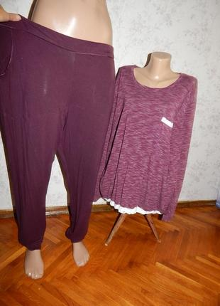 F&f пижама вискозная скомбинированная кофта со штанишками р20-...