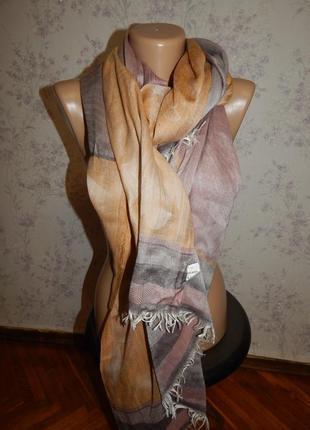 Шарф палантин вискозный весенний стильный модный