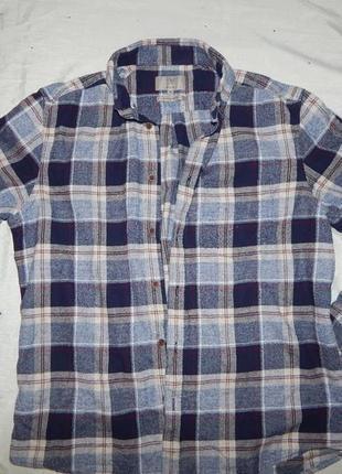 Marks&spencer рубашка мужская байковая в клетку стильная модна...