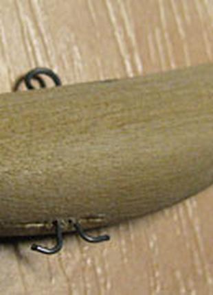 Воблер деревянный (67) синий, 14, парусина, весло