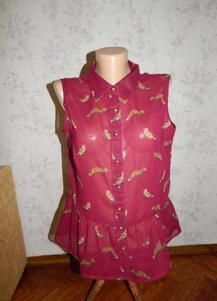 South блузка полу-прозрачная стильная модная р12