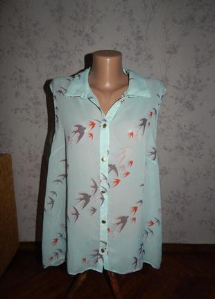 Atmosphere блузка полу-прозрачная стильная модная р20 большой ...