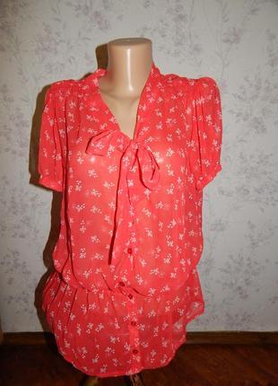 George блузка полу-прозрачная стильная модная р16