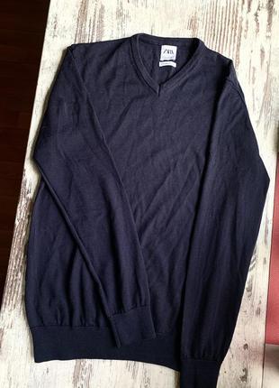Мужской шерстяной свитер zara