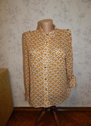 Next блузка полу-прозрачная стильная модная р10